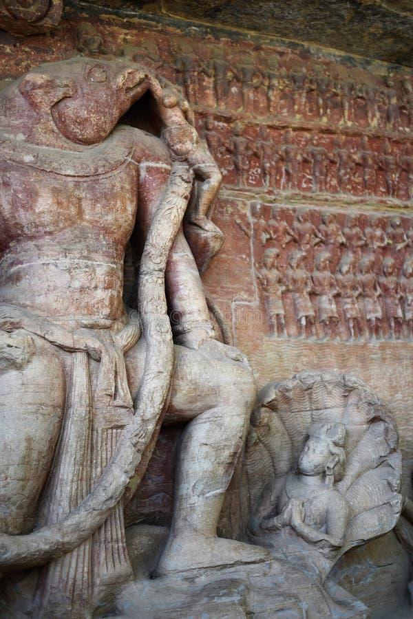 Udayagiri-Höhlen, Vidisha, Madhya Pradesh lizenzfreie stockfotografie