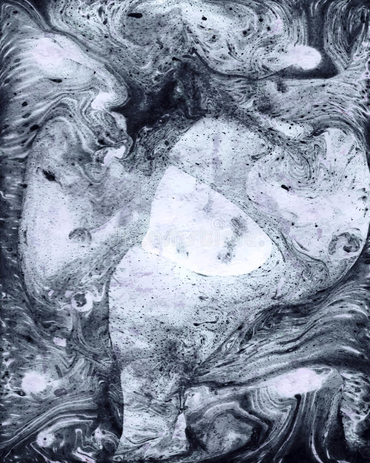 Udda Ebru för grungegouachemarmor bakgrund för design Gullig textu stock illustrationer