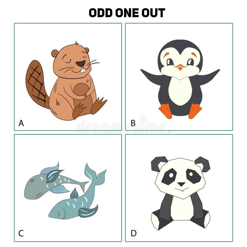 Udda en ut modig vektorillustration för barn stock illustrationer