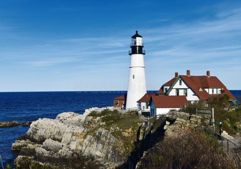Udde Elizabeth Lighthouse royaltyfri bild