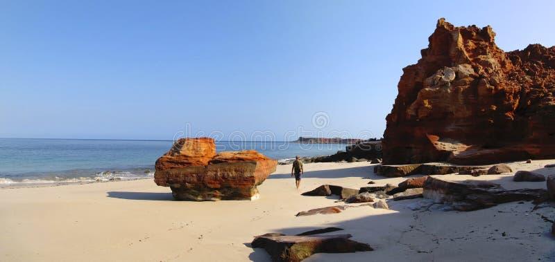 Udde Leveque nära Broome, västra Australien royaltyfri fotografi