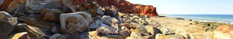 Udde Leveque nära Broome, västra Australien arkivfoto