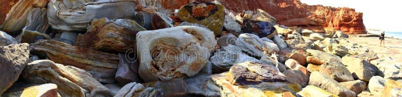Udde Leveque nära Broome, västra Australien fotografering för bildbyråer