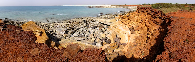 Udde Leveque nära Broome, västra Australien royaltyfria bilder