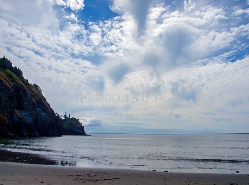 Uddebesvikelsefyr på Washington Coast USA royaltyfria bilder