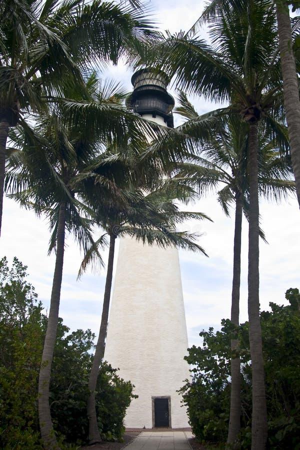 UddeFlorida fyr i Bill Baggs Florida Park fotografering för bildbyråer