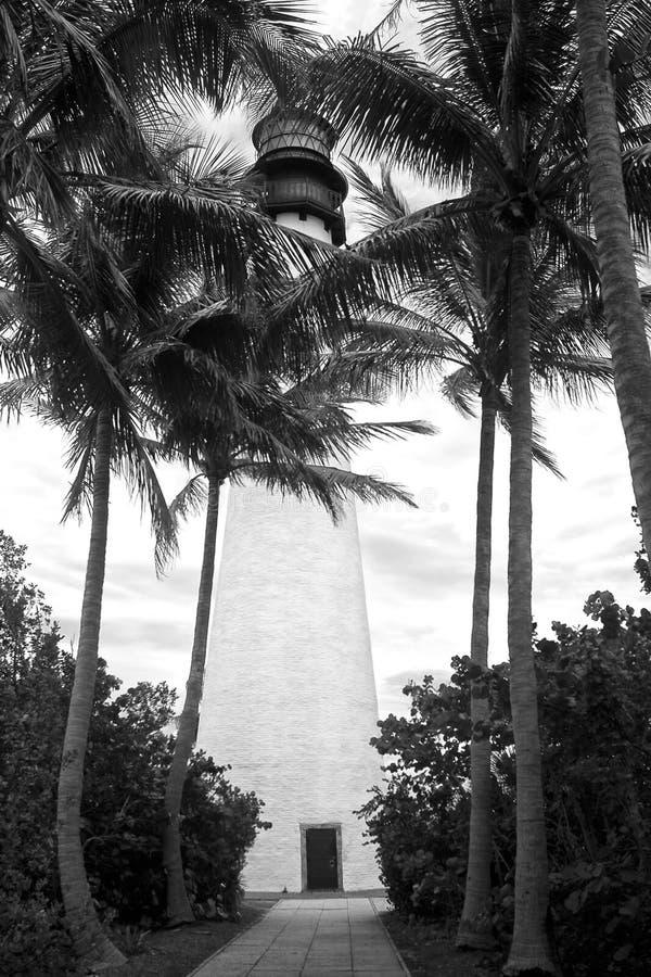 UddeFlorida fyr i Bill Baggs Florida Park royaltyfri bild