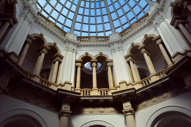 Uder the dome of Tate Britain , London, UK stock photo