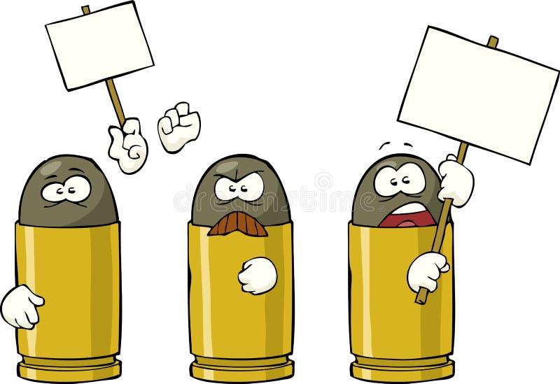 Uderzające amunicje ilustracji