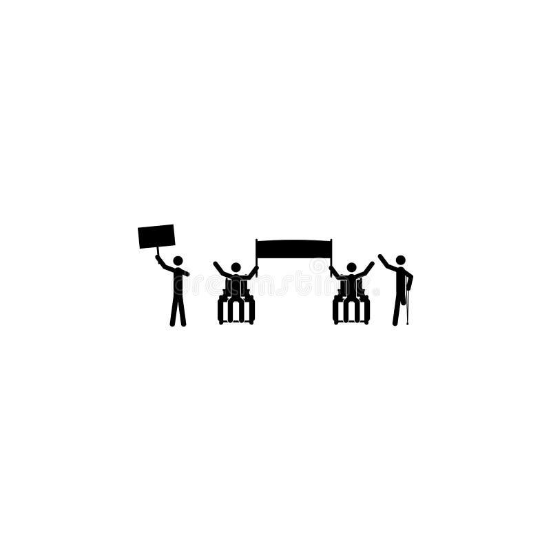 uderzający niepełnosprawni ikona Elementy protesta i wieców ikona Premii ilości graficzny projekt Znaki i symbol kolekcja ja ilustracji