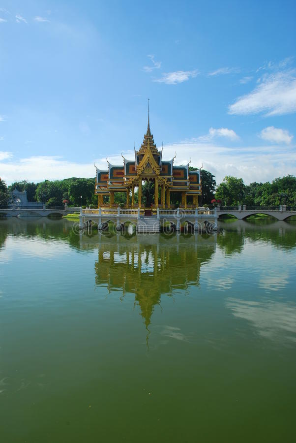 Uderzenia Pa-In Pałac W Ayutthaya Prowinci, Tajlandia Zdjęcia Stock