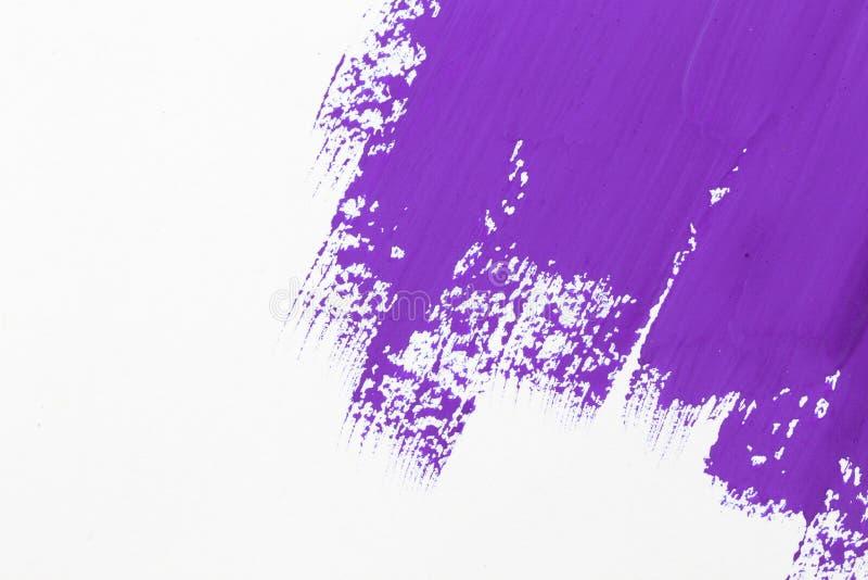 Uderzenie farby purpurowy muśnięcie royalty ilustracja