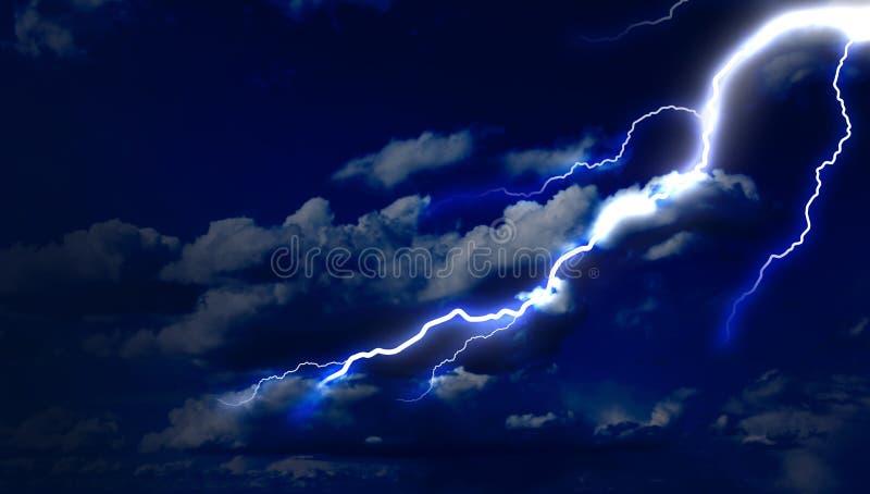 Uderzenie pioruna w niebie zdjęcie stock