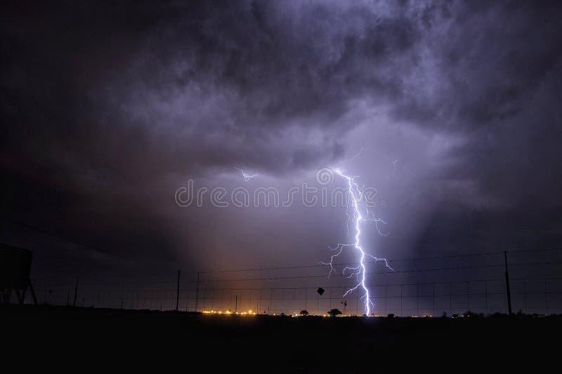 Uderzenie pioruna w Południowa Afryka fotografia stock
