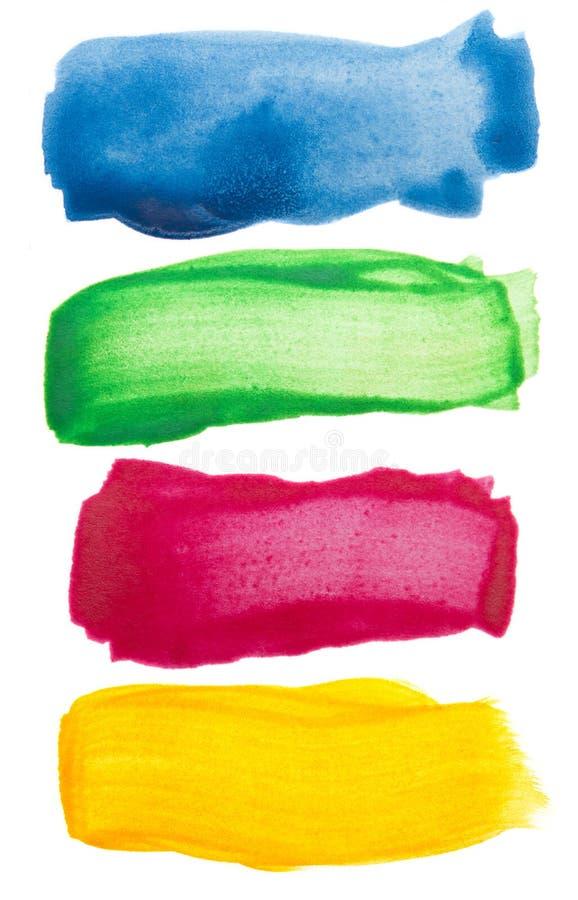 uderzenie szczotkarska kolorowa akwarela fotografia royalty free
