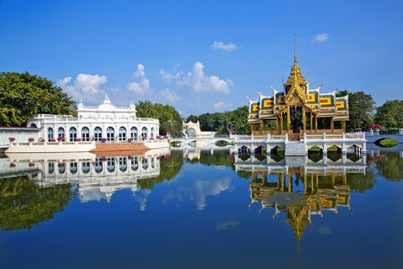Uderzenie w Royal Palace, Ayutthaya, Tajlandia obrazy royalty free