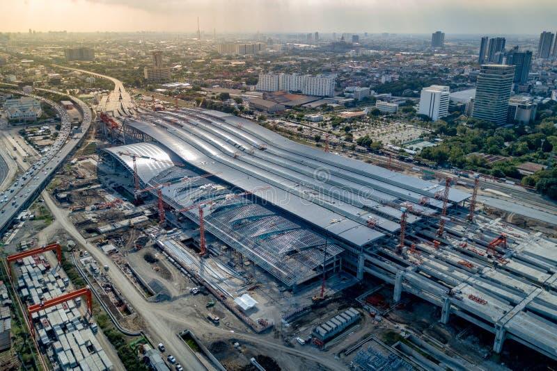 Uderzenie Zaskarża centrali stację, kolejowy centrum Bangkok obraz royalty free