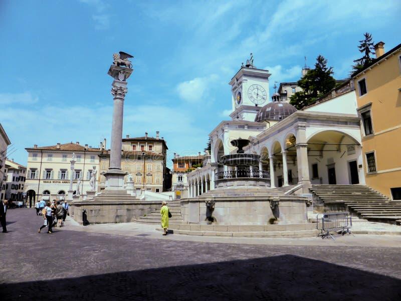 Udine Ιταλία - όμορφη φωτογραφία της πόλης Udine στοκ φωτογραφίες με δικαίωμα ελεύθερης χρήσης