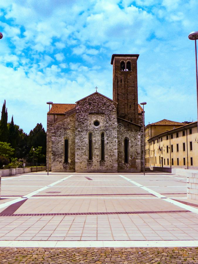 Udine Ιταλία - όμορφη φωτογραφία της πόλης Udine στοκ εικόνες με δικαίωμα ελεύθερης χρήσης