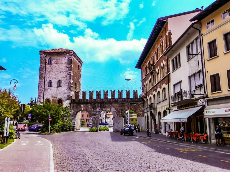 Udine Ιταλία - όμορφη φωτογραφία της πόλης Udine στοκ εικόνες