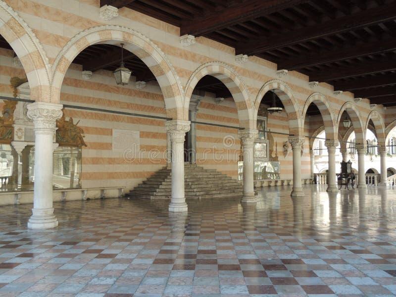 Udine - Loggia del Lionello royaltyfri bild