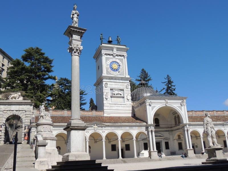 Udine - quadrado da liberdade imagens de stock