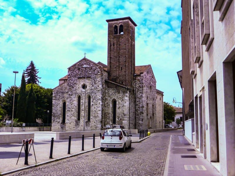 Udine Włochy - piękna fotografia miasto Udine zdjęcie stock