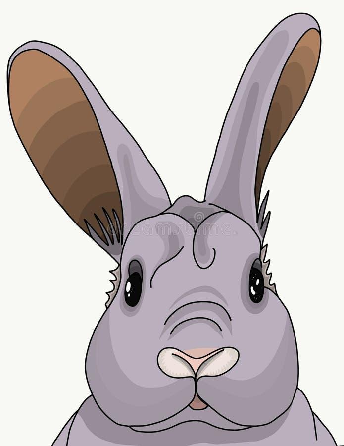 Udivlenie-letso Kaninchen stock abbildung