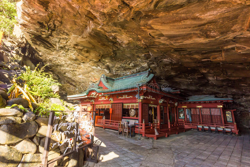 Udo jingu,位于日南市海岸线的神道圣地,九州 免版税库存图片