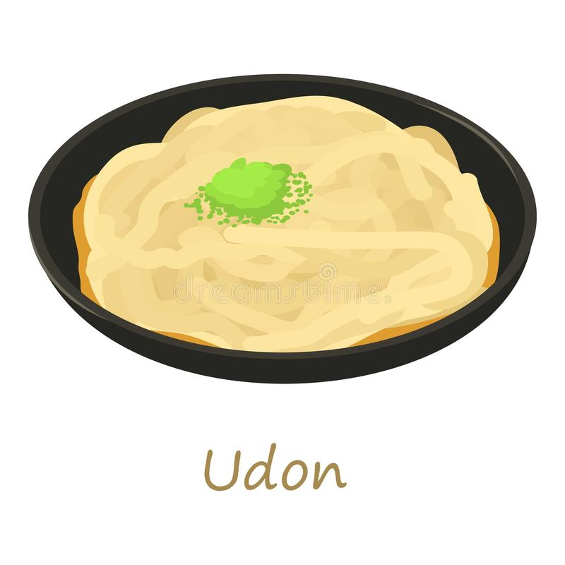 Udon icon, cartoon style stock illustration