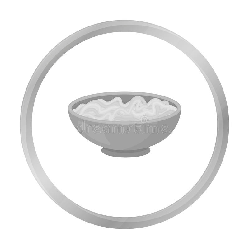 Udon icon isolated on white. Sushi symbol. royalty free illustration