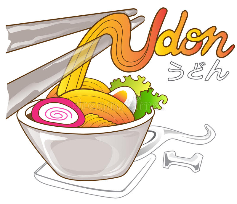 Udon noodle royalty free illustration
