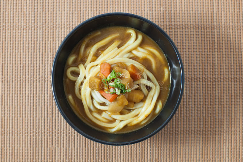 Udon Noodle Soup royalty free stock image