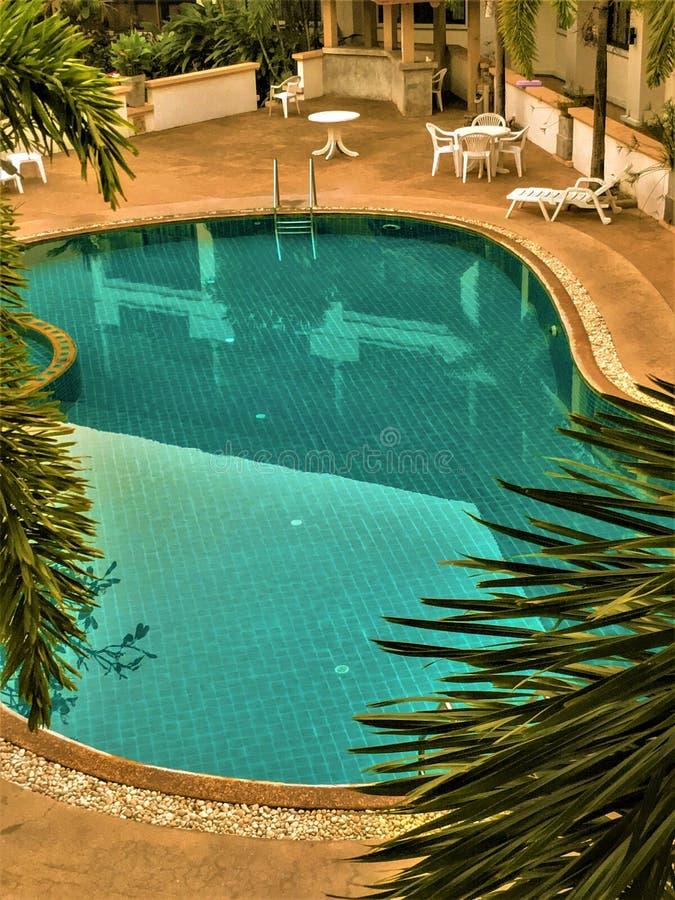 Udon Thani, Tha?lande-f?vrier 24,2019 : La piscine de l'h?tel photos stock