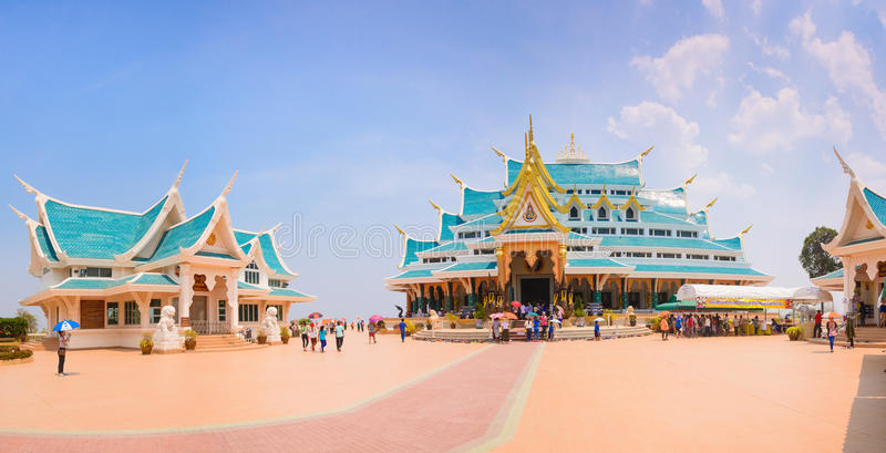 UDONTHANI,泰国- 7月20 :在寺庙里面的Recling菩萨, watpaphukon, 2016年7月20日在Nayung udonthani,泰国 免版税图库摄影