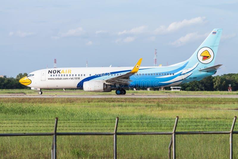 UDONTHANI, THAILAND - AUGUSTUS 14, 2015: Luchtvliegtuig hs-DBK Boeing 73 stock afbeeldingen