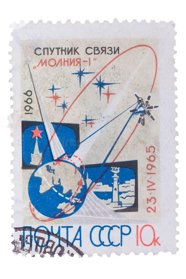UDSSR - CIRCA 1966: Ein Stempel druckte in, das sovie zeigt lizenzfreie stockbilder