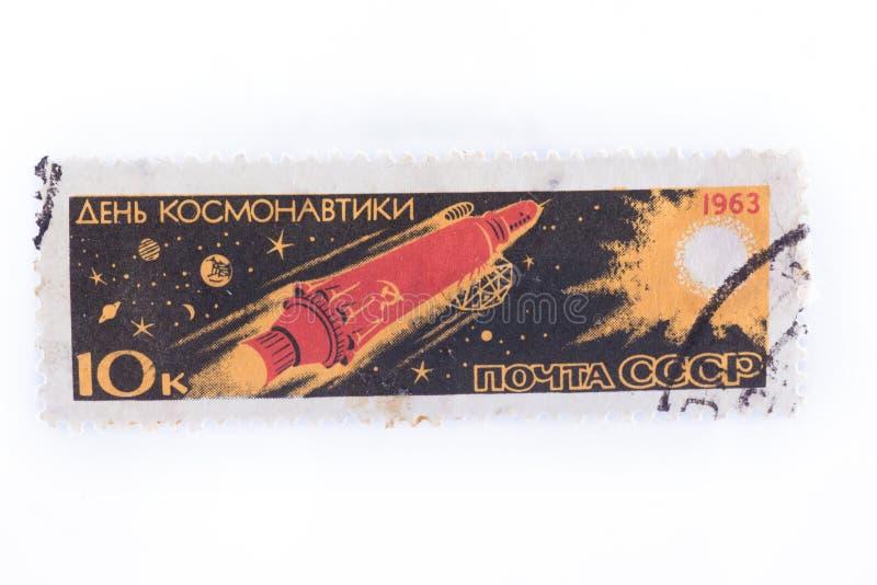 UDSSR - ungefähr 1977: Fügen Sie, Stempel, Dichtungen in der an Show Co hinzu stockfoto