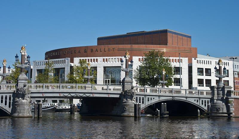 UDutch nationell opera och balett, Amsterdam, Nederländerna arkivfoton