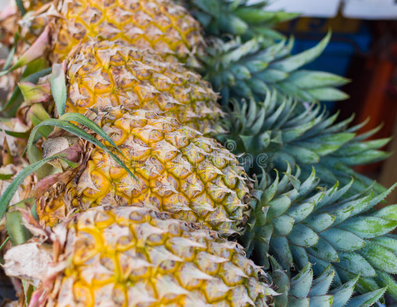 udziałów ananasy zdjęcia stock