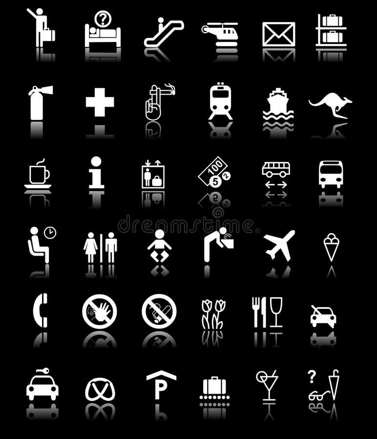 udział ocienia znaków symbole ilustracja wektor