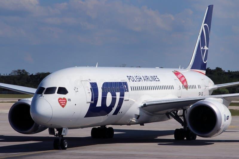 UDZIAŁ - Polskie linie lotnicze zdjęcie royalty free