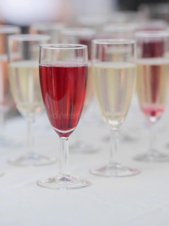 Udział szkła z szampanem zdjęcia royalty free