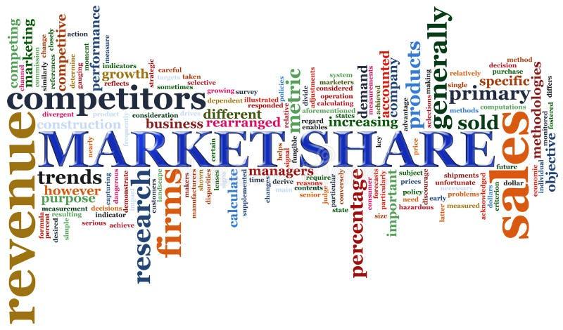 udział w rynku etykietki ilustracja wektor