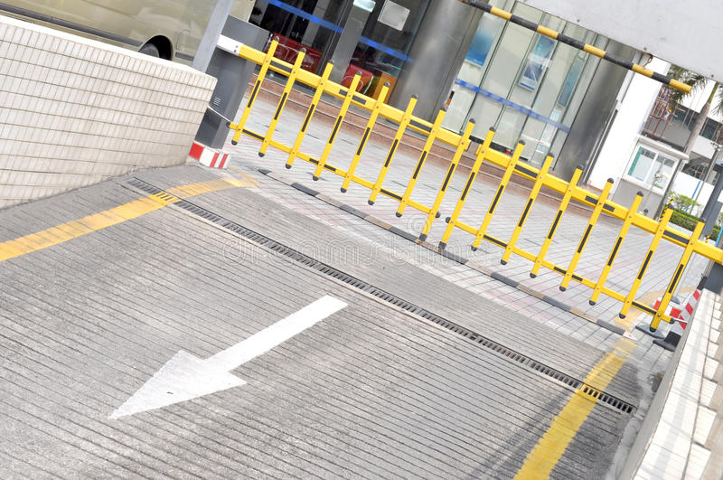udziału parking sposób zdjęcia stock