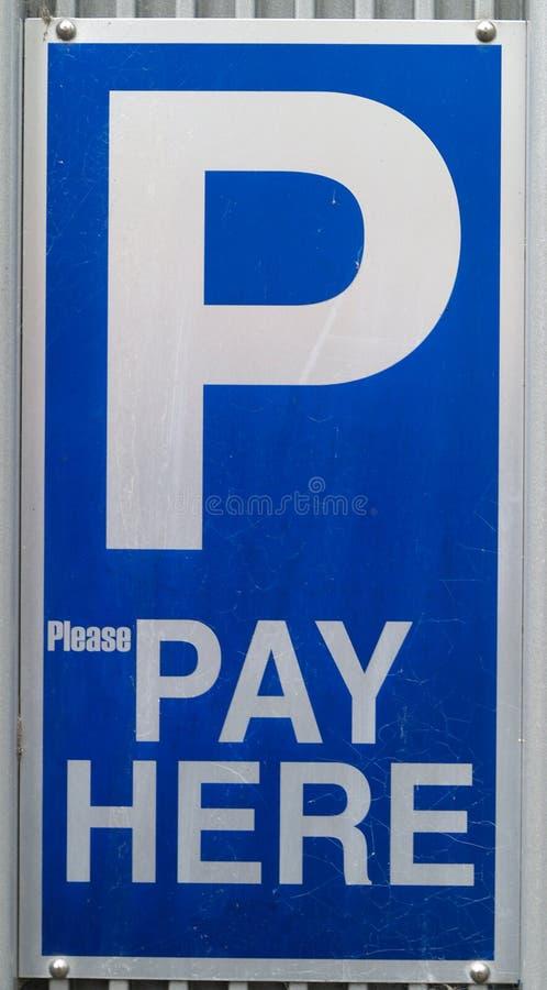 udziału parking znak obraz stock