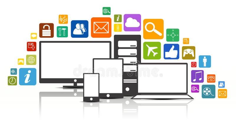 Udziały Apps ilustracji