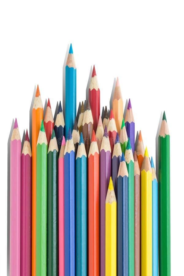 Udziały ołówki i biały tło fotografia stock