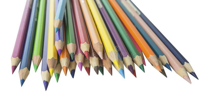 Udziały ołówki i biały tło obrazy stock
