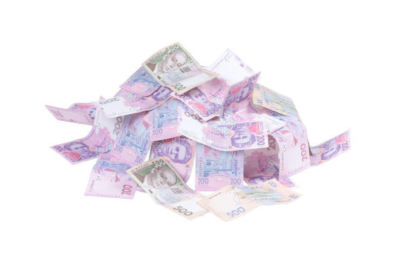Udziały pieniądze grivna zdjęcia royalty free